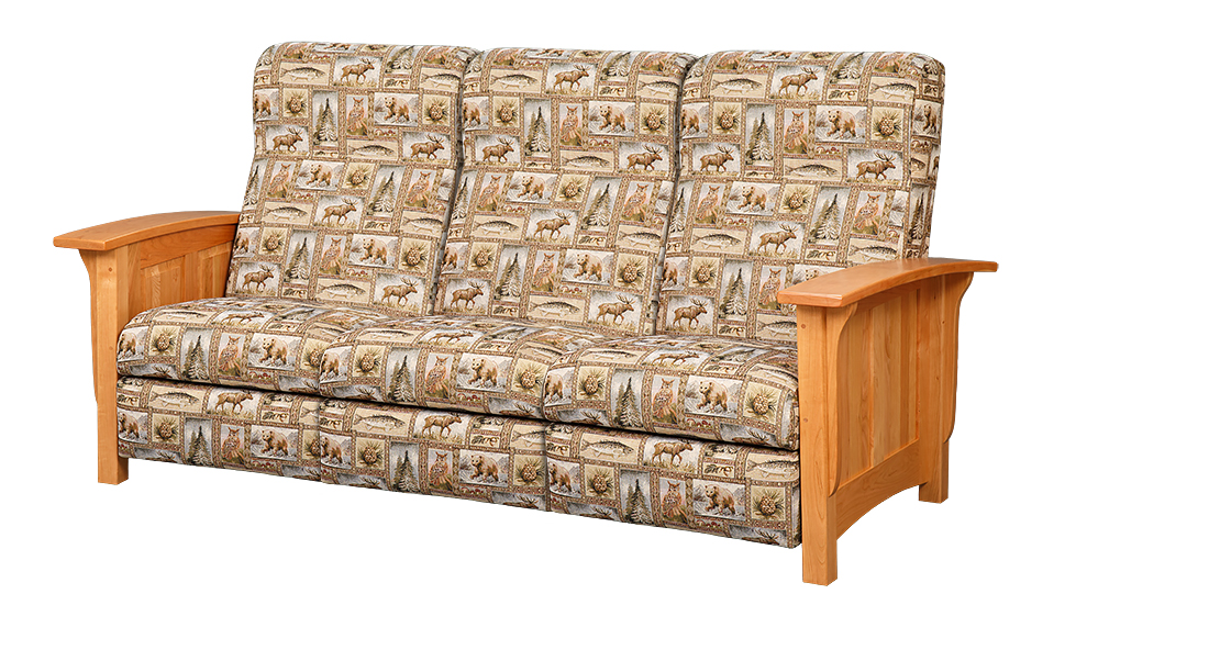 Mission Style Reclining Sofa Town Amp Country Furniture