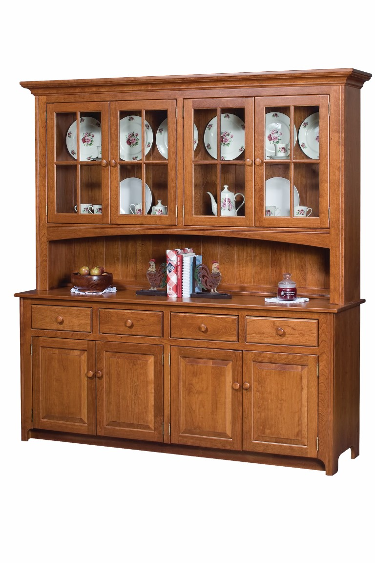 Shaker Four Door China Cabinet Town Amp Country Furniture