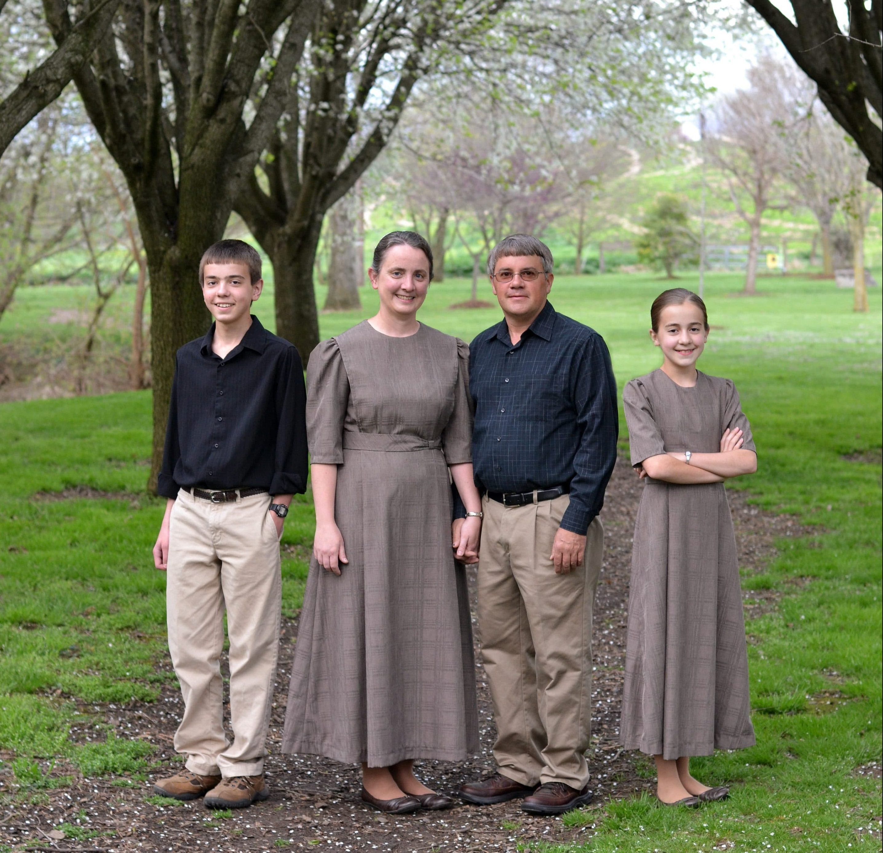 Owners, Daryl and Rosetta Gingerich, with their children, Ryan and Heidi.