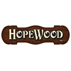 The logo for Hopewood.