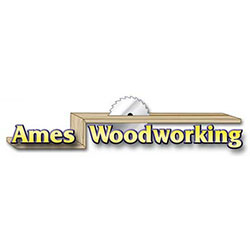 The logo for Ames WoodWorking.