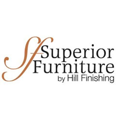 The logo for Superior Furniture by Hill Fishing.