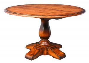 Round Vase Pedestal Extension Table