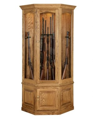 14 Gun Corner Gun Cabinet